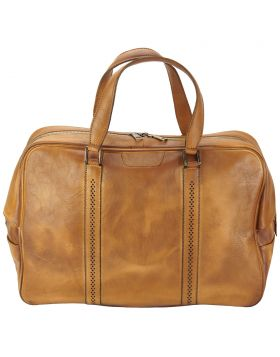 Travel bag Danilo in vintage leather - Tan