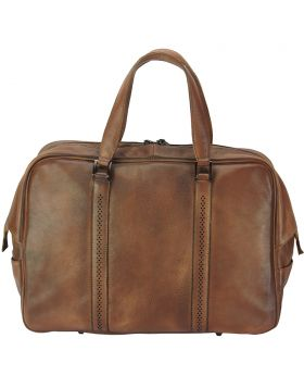 Travel bag Danilo in vintage leather - Brown