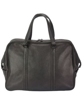 Travel bag Danilo in vintage leather - Black