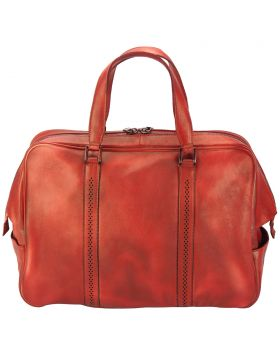 Travel bag Danilo in vintage leather - Red