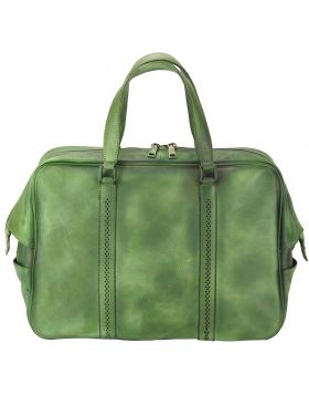 Travel bag Danilo in vintage leather - Green