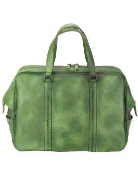 Travel bag Danilo in vintage leather - Green