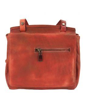 Livio leather Messenger bag - Red