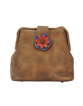 Fiore Crossbody bag - Tan