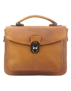 Montaigne GM vintage leather Handbag - Tan