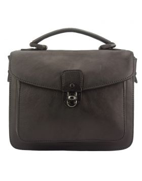 Montaigne GM vintage leather Handbag - Dark Brown