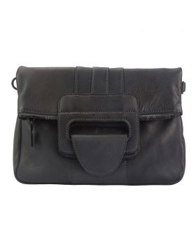 Multipurpose Clutch Solaio by vintage leather - Dark Brown