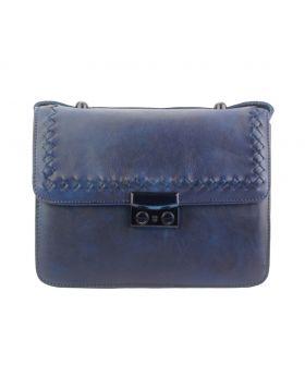 Kléber leather crossbody bag - Blue