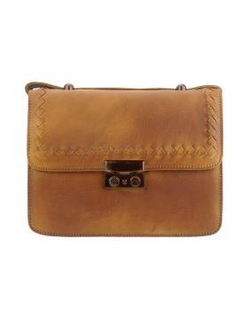 Kléber leather crossbody bag - Tan