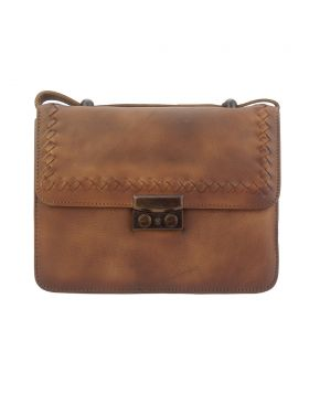 Kléber leather crossbody bag - Brown