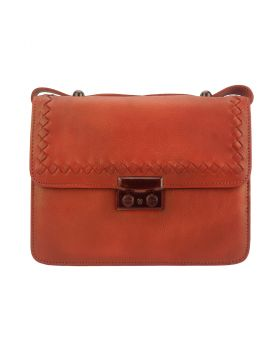 Kléber leather crossbody bag - Red
