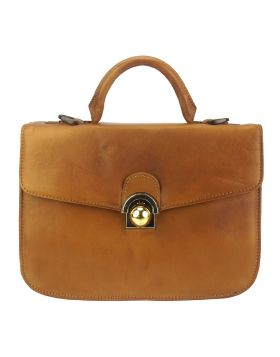 Very GM Leather Handbag - Tan