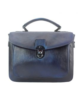 Montaigne Handbag by vintage leather - Blue