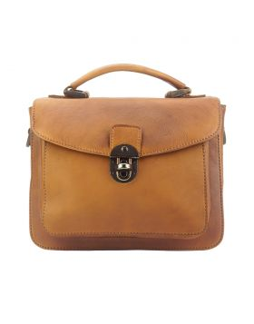 Montaigne Handbag by vintage leather -Tan