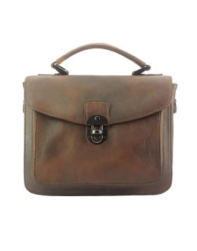 Montaigne Handbag by vintage leather - Brown