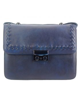 Kléber GM leather crossbody bag - Blue