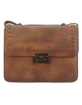 Kléber GM leather crossbody bag - Brown