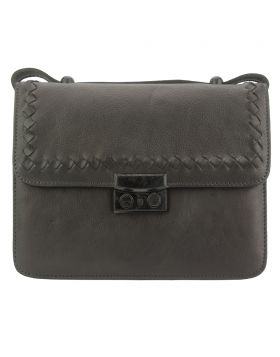 Kléber GM leather crossbody bag - Dark Brown