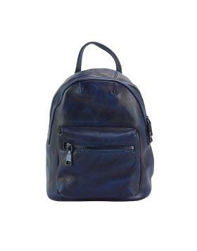 Teresa Leather Backpack - Blue