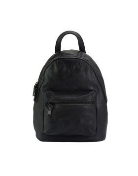 Teresa Leather Backpack - Black