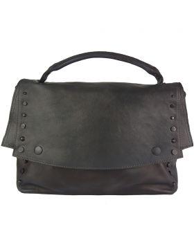 Natalina leather Messenger bag - Black