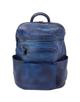 Tiziano Backpack in vintage calfskin - Blue