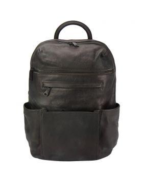 Tiziano Backpack in vintage calfskin - Black