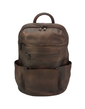 Tiziano Backpack in vintage calfskin - Brown