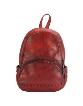 Walter leather Backpack - Red