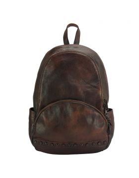 Walter leather Backpack - Brown