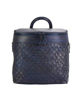 Manuele leather Backpack - Blue