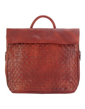 Gioele leather Backpack - Red