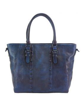Prudenzia leather bag - Blue