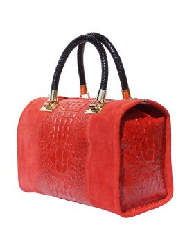 Emma leather Boston bag - Red