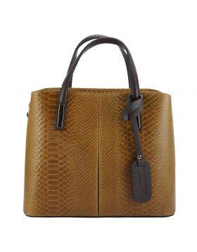 Vanessa leather Handbag - Tan