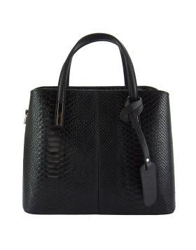 Vanessa leather Handbag - Black