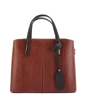 Vanessa leather Handbag - Dark Red