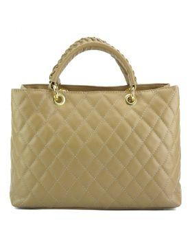 Severa Leather handbag - Beige