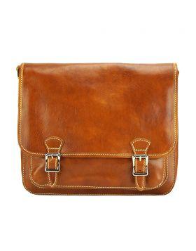 Palmira Leather Messenger Bag - Tan