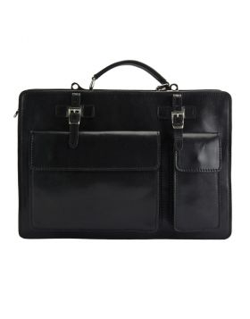 Daniele leather Briefcase - Black