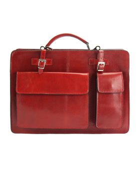 Daniele leather Briefcase - Red