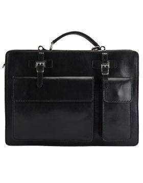 Daniele GM leather Briefcase - Black