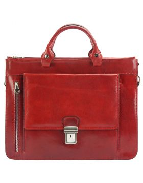 Donato leather Briefcase - Red