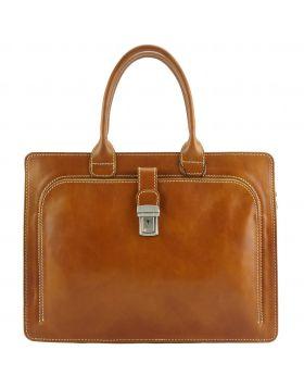Giacinto leather business bag - Tan