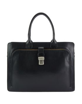 Giacinto leather business bag - Black