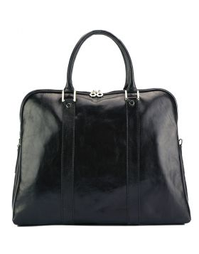 Ermanno leather Tote bag - Black