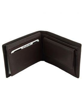 Saffiro Mini leather wallet - Dark Brown