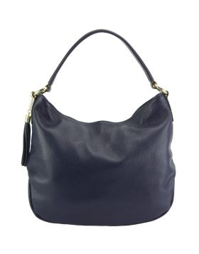 Selene leather Hobo bag - Blue