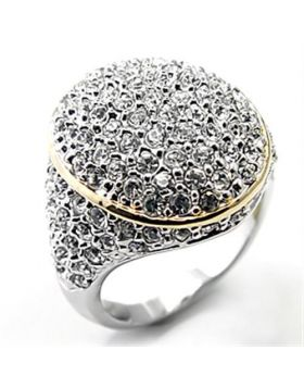 Ring Brass Reverse Two-Tone Top Grade Crystal Clear