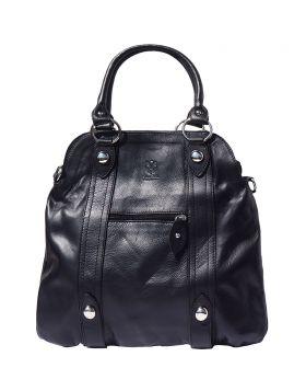 Zoe leather shoulder bag - Black